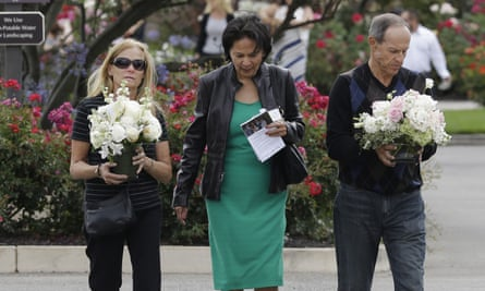 Mourners attend a memorial service for Kathryn Steinle in Pleasanton, California, on Thursday.