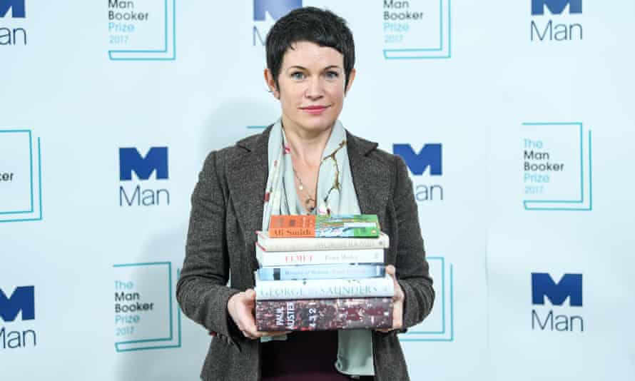 Sarah Hall at the shortlist announcement for the 2017 Man Booker prize