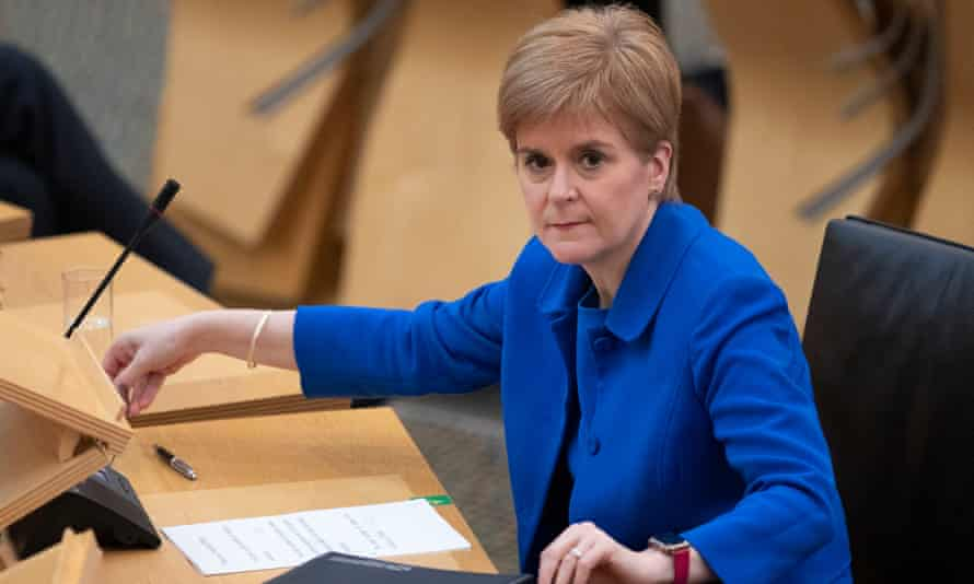 Scotland's first minister, Nicola Sturgeon, tweeted in response that independence was 'the only way to protect & strengthen' the Scottish parliament.