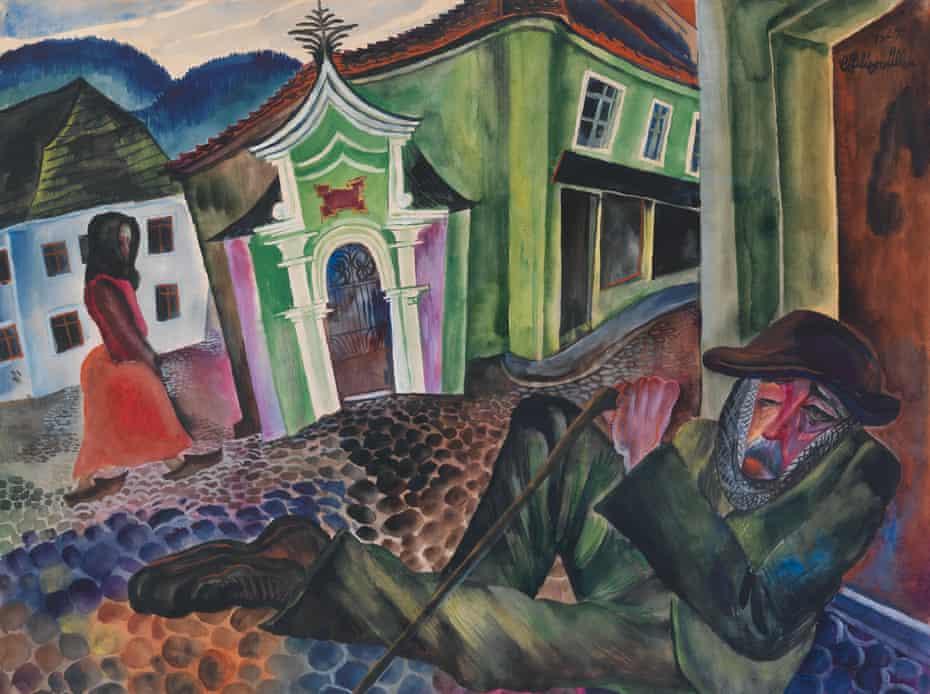 The Beggar of Prachatice by Conrad Felixmüller (1924).