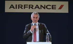 The Air France president, Frédéric Gagey