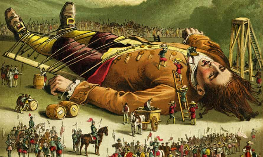 a Victorian illustration of Gulliver's Travels.