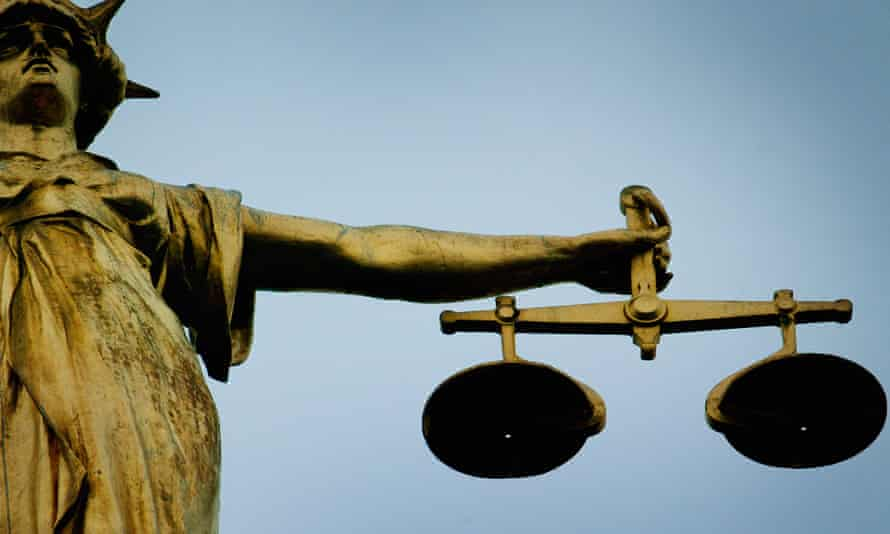 Statue holding the scales of justice