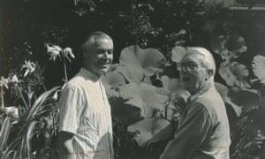 Hugh Honour, left and John Fleming in their garden.