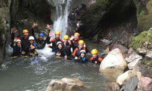 canyoning group in the French Pyrenees