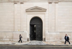 Exterior doors at the Bank of England