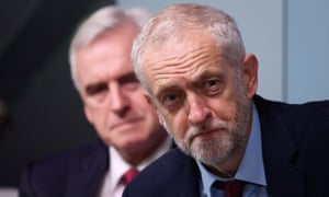 He's behind you … Jeremy Corbyn and John McDonnell.