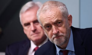 Jeremy Corbyn (foreground) and John McDonnell