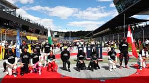 F1 drivers take a knee.
