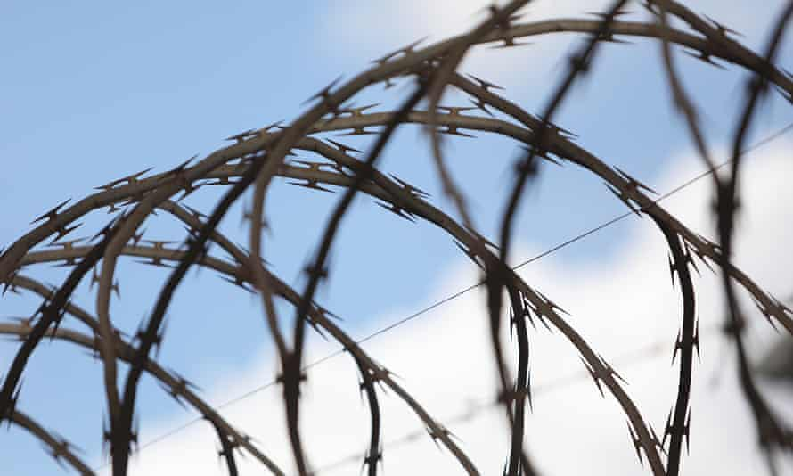 Razor wire at a youth detention centre