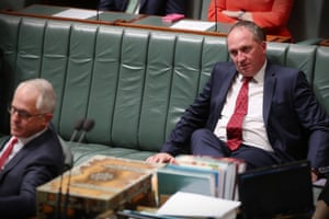 Barnaby Joyce during debate in the House this afternoon
