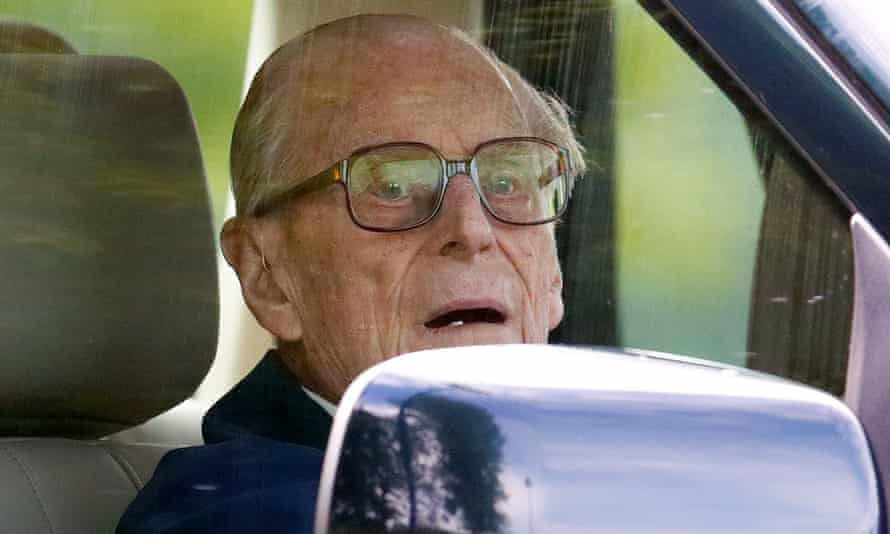 Prince Philip was driving a Land Rover Freelander, which overturned in the collision.