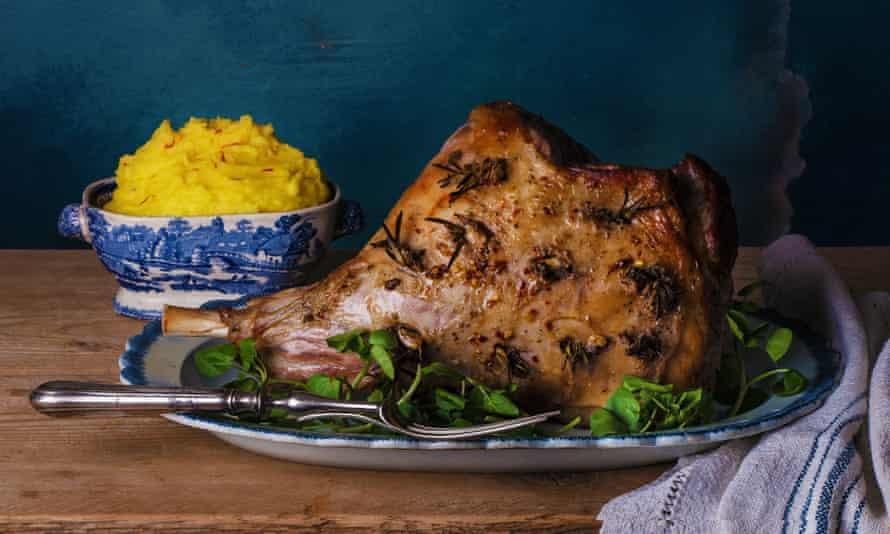 Simon Hopkinson's roast leg of lamb with anchovy, garlic and rosemary.