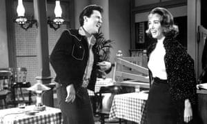 Julie Adams and Elvis Presley in Tickle Me, 1965.