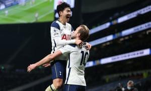 Son and Kane both score for Tottenham against Arsenal.