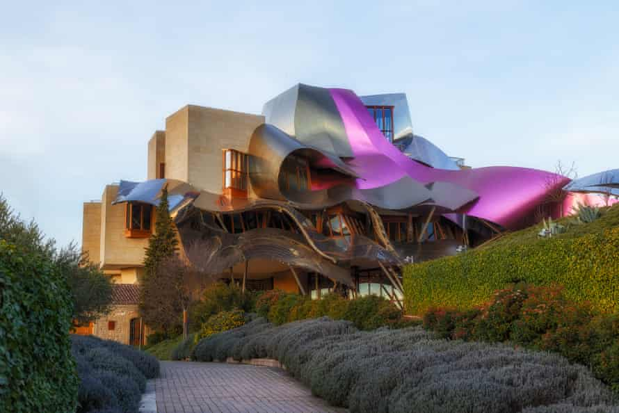 The Frank Gehry-designed hotel at the Marques de Riscal winery.