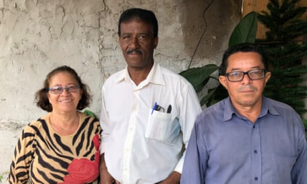 From left to right, Maria Betania Ferreira Mendonça, José Maria Lacerda, and Lourival Zacarias Alves, leaders of the Paraisópolis residents association.