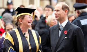Glynis Breakwell with Prince Edward