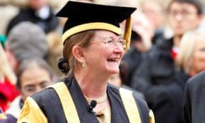 Glynis Breakwell in academic dress