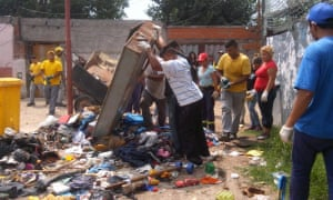 Clean up in a shanty town in Buenos Aires, Argentina organised by Corriente Villera