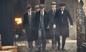 Peaky Blinders' Isiah (Jordan Bolger), Johnny Dogs (Packy Lee), Thomas Shelby (Cillian Murphy), Finn Shelby (Harry Kirton), Arthur Shelby (Paul Anderson)