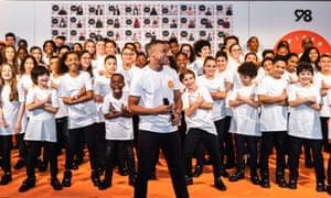 Kylian Mbappé launching his charity