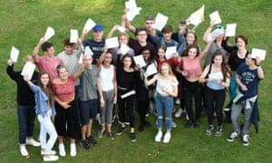 Students celebrate their GCSE results at Norwich school.
