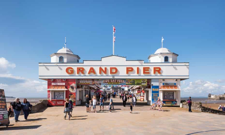 Entrance to the Grand Pier, Marine Parade, Weston-Super-Mare, North Somerset, c2010s Creator: Steven Baker.