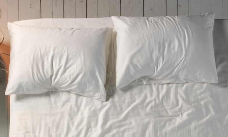 Empty double bed