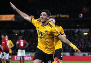 Wolverhampton Wanderers' Raul Jimenez celebrates scoring his side's first goal of the game.