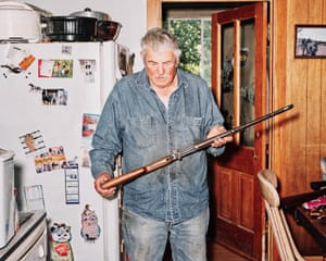 Monte Naslund in his kitchen. His family has worked on Nucla's irrigation ditch since the town's early days.