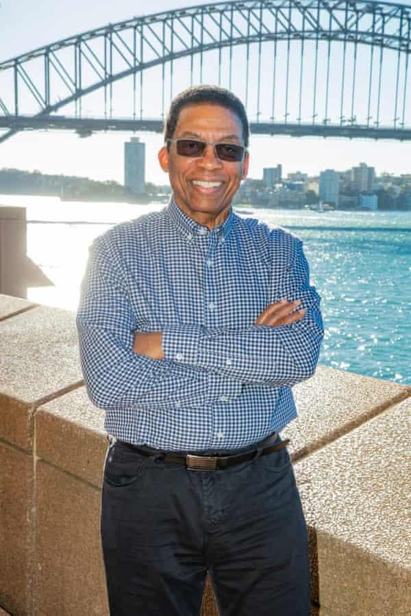 Herbie Hancock on Sydney Harbour, NSW, Australia.