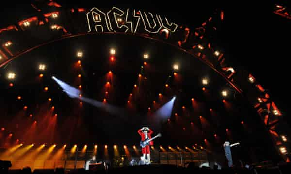 AC/DC performing at ANZ stadium in Sydney.