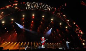 AC/DC performing at ANZ stadium in Sydney.