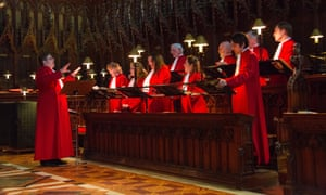 Choir practice at Gloucester Cathedral in 2015.