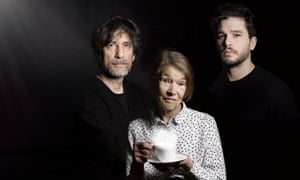 Neil Gaiman (left) with Glenda Jackson and Kit Harington