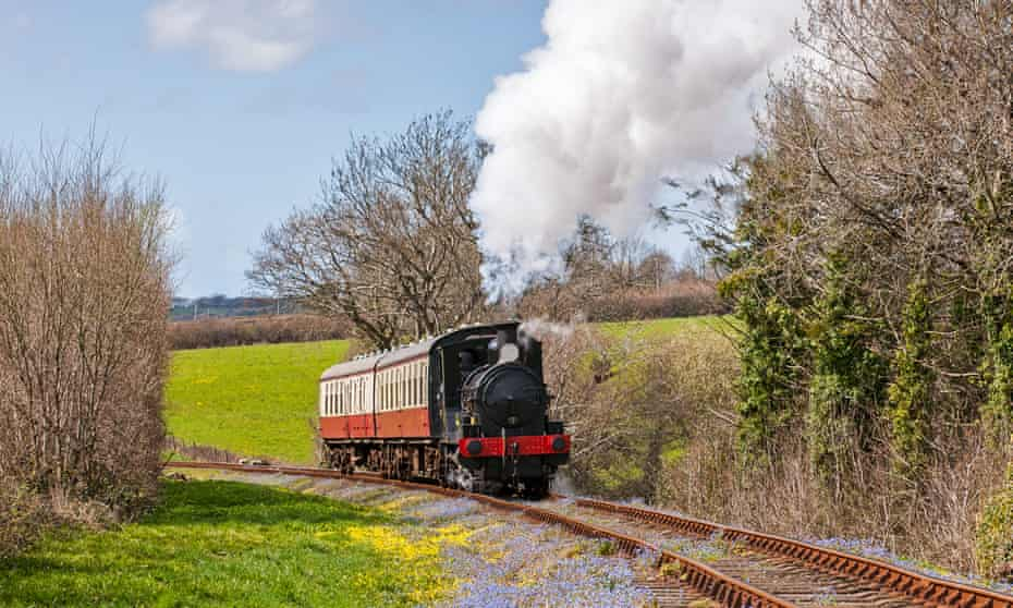 Tracking shot … a steam locomotive on the Bodmin and Wenford Railway in Cornwall, UK.