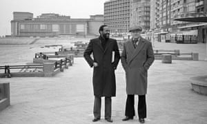 Marvin Gaye with the Belgian music promoter and hotel owner Freddy Cousaert in Ostend, 1982.