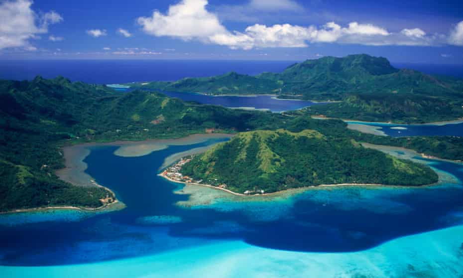 Huahine Island in French Polynesia. Pacific Island Forum leaders have agreed to make their maritime borders permanent even if their countries change shape due to rising sea levels.