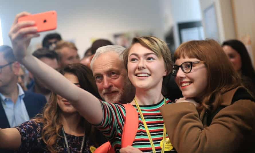 Supporters of Labour party leader Jeremy Corbyn at a campaign event. Labour pulled off a spectacular election turnaround largely thanks to social media.