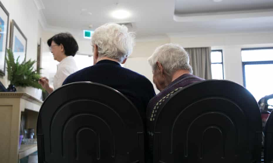Two elderly women. HammondCare aged care facility located at Wahroonga. NSW. Australia.