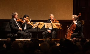 Outstanding... The Endellion String Quartet perform at the Wigmore Hall in London.