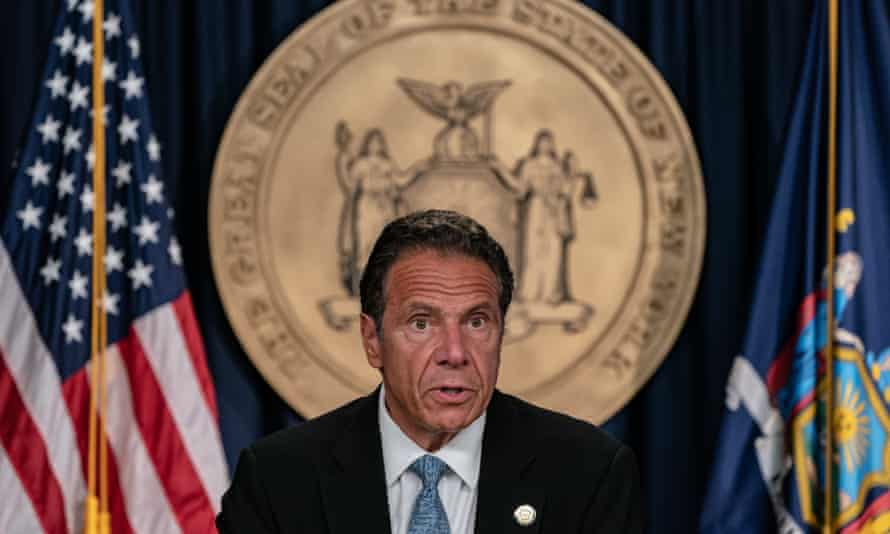 Andrew Cuomo speaks during a daily media briefing 23 July 2020 in New York City.