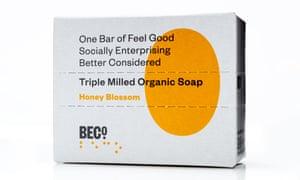 Barre de savon BeCo en fleur de miel