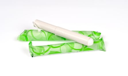 Stock image of tampons