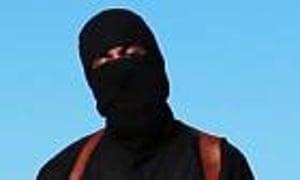 Mohammed Emwazi is seen in an Islamic State video.