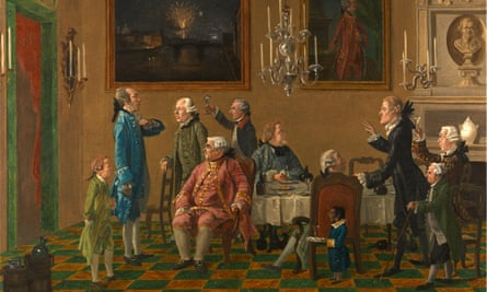 British Gentlemen at Sir Horace Mann's Home in Florence by Thomas Patch (1725-1782)