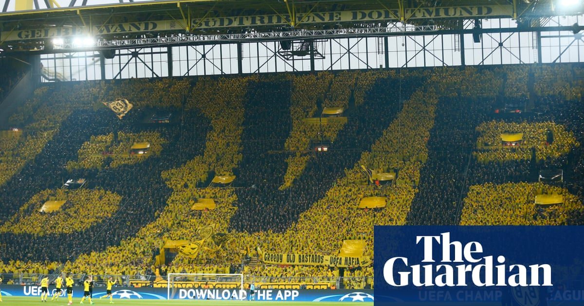 Borussia Dortmund S Yellow Wall Stands Tall In Face Of Attack On Team Borussia Dortmund The Guardian