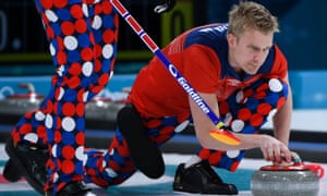 Norway's Olympic Curlers have made their mark with their trousers in Pyeongchang