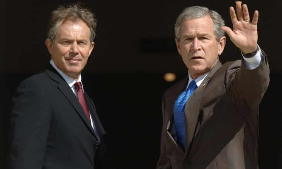 Tony Blair and George W Bush stood 'shoulder to shoulder' on Iraq in 2003.